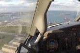 ویدیوی جذاب از فرود هواپیما از دید خلبان